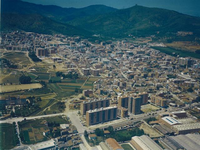panoramica fotografia antiga viladecans ciutat anys setanta